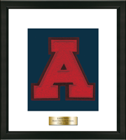 Avon Old Farms School in Connecticut Varsity Letter Frame - Varsity Letter Frame in Omega