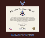 United States Air Force Certificate Frame - Spectrum Wall Certificate Frame in Expo Cherry