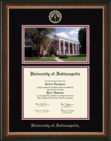 University of Indianapolis Diploma Frame - Campus Scene Diploma Frame in Murano