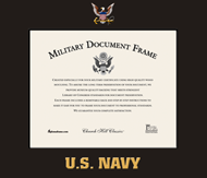 United States Navy Certificate Frame - Spectrum Wall Certificate Frame in Expo Black