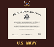 United States Navy Certificate Frame - Spectrum Wall Certificate Frame in Expo Cherry