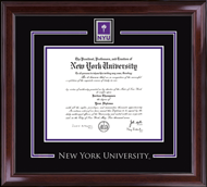 New York University Diploma Frame - Showcase Edition Diploma Frame in Encore