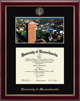 University of Massachusetts Amherst Diploma Frame - Campus Scene Diploma Frame in Gallery