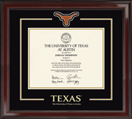 The University of Texas Austin Diploma Frame - Spirit Medallion Diploma Frame in Encore