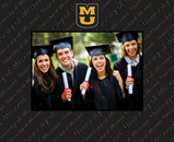 University of Missouri Columbia Photo Frame - Spectrum Pattern Photo Frame