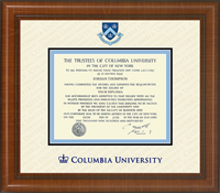 Columbia University Diploma Frame - Dimensions Plus Diploma Frame in Prescott
