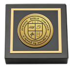 Judson Bible College Paperweight - Gold Engraved Medallion Paperweight