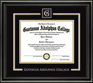 Gustavus Adolphus College Diploma Frame - Showcase Edition Diploma Frame in Midnight