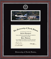 University of North Dakota Diploma Frame - Campus Scene Diploma Frame in Kensington Silver
