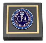 Certified Public Accountant Paperweight - Masterpiece Medallion Paperweight