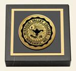 Missouri Valley College Paperweight - Gold Engraved Medallion Paperweight