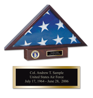 Flag Cases and Flag Boxes Flag Case - U.S. Air Force Memorial Medallion Flag Case