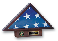 United States Army Flag Case - U.S. Army Memorial Medallion Flag Case