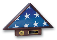 United States Coast Guard Flag Case - U.S. Coast Guard Memorial Medallion Flag Case
