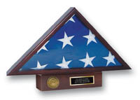 Flag Cases and Flag Boxes Flag Case - Memorial Medallion Flag Case