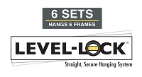 Level-Lock® Hanging System Diploma Frame - Level-Lock® Hanging System - 6 Sets