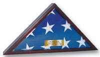 United States Coast Guard Flag Case - Memorial Honors Flag Case